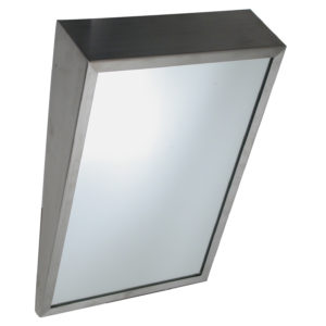 Fixed Tilt Stainless Steel Angle Framed Mirror