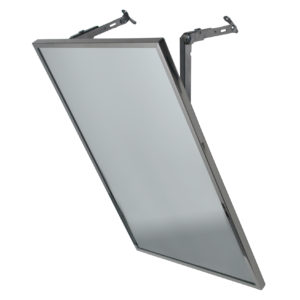 Adjustable Tilt Stainless Steel Channel Framed Mirror