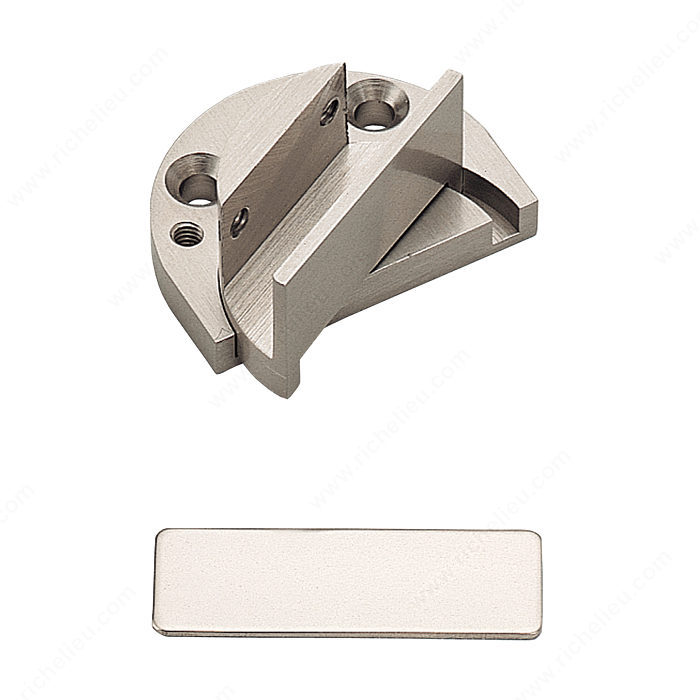 Recessed Reversible Pivot Hinge For Glass Door Within Furniture Cabinet Richelieu Glazing Supplies