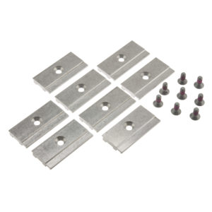 Retainer plate for glass retainer profile, set of 8 pieces for 1 door