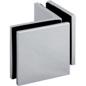 90° Glass-to-Glass Interior Corner Clamp - Square