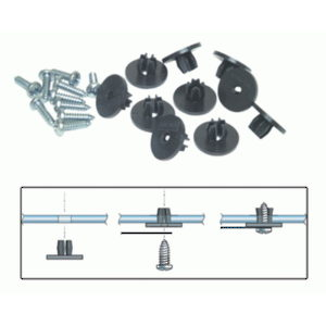 Car Door Window Fastener Set
