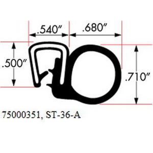 ST-36-A PVC/EPDM Edge Trim Seal