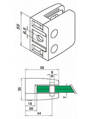 o d Vitre en titane /à t/ête frais/ée en acier inoxydable m6//22 mm