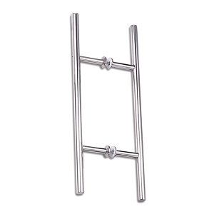 "Heavy-Duty Stainless Steel Back-to-Back Ladder Style Handle, 1-1/4"" Diameter"