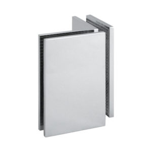 90° Glass-to-Glass Large Interior Corner Clamp - Square
