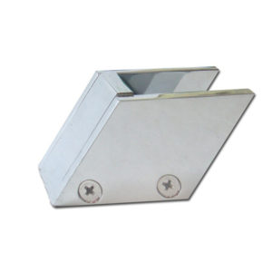 Acute-Angle Glass Clamp Open on Two Sides to be on End