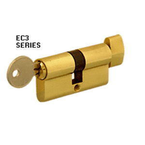 Extended Length Keyed Cylinder Lock with Thumb Turn