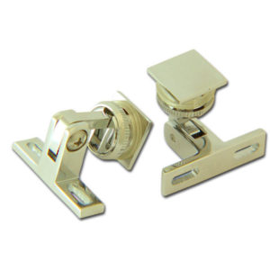 Hinge for Glass Cabinet Doors with Square Backplate
