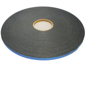 "Double-Sided Adhesive High-Density Black Foam Tape for Glass Glazing - Thickness: 1/8"" (2 1/2)"