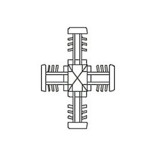Georgian Muntin Bar Cross