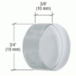 UV Round Crystal Shelf Support