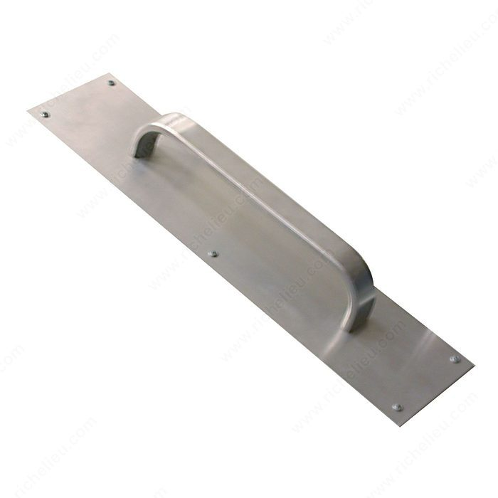 Aluminum Door Pull And Plate Richelieu Glazing Supplies
