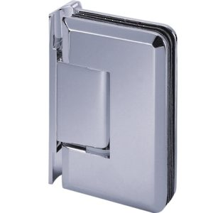 90° Glass-to-Wall Hinge with Offset Back Plate - Golf Series