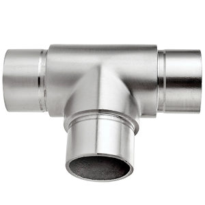 Three-Way T-Shaped Right Angle Connector for Handrail