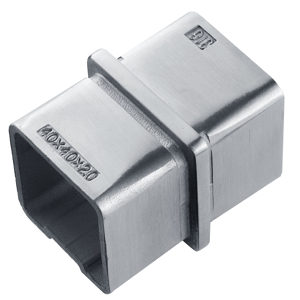 180º Inline Connector for Square Handrail