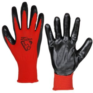 Polyester Gloves with Nitrile Dipping