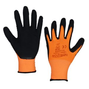 Latex Foam Dipped Palm on Polyester Gloves