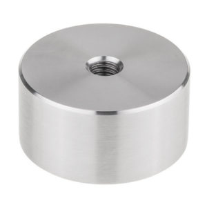 "2"" Diameter Solid Metal Standoff Base - Threaded: 1/2""- 13"