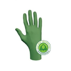 Biodegradable Disposable Nitrile Gloves, 4 mil