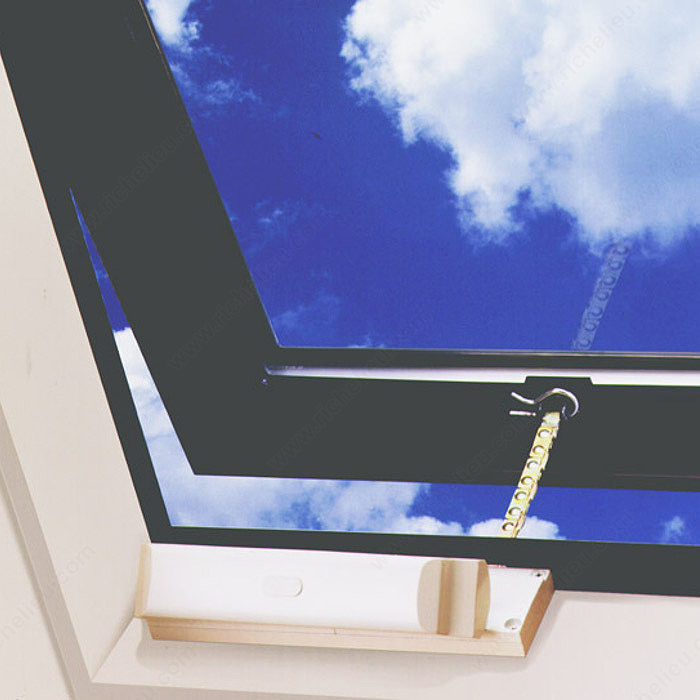 Power Window Operator For Windows And Light Skylights