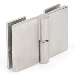 Single-Acting Gravity-closing Glass-to-Glass Gate Hinge