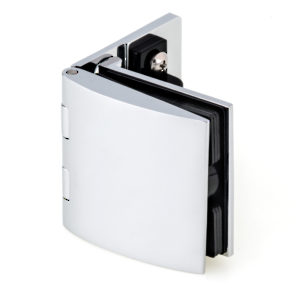 Inset Glass Door Hinge With Catch