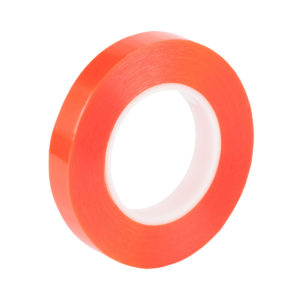 Double Sided Polyester Tape With Red Poly Liner