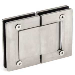 180° spring and hydraulic self-closing glass door hinge set