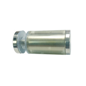 Cylindrical Solid Brass Knob with Plastic Sleeve - Single Mount
