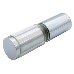 Cylindrical Solid Brass Knob with Plastic Sleeve - Back to Back