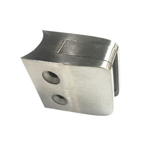 Square Glass Clamp - Round Post Mount - Model 505