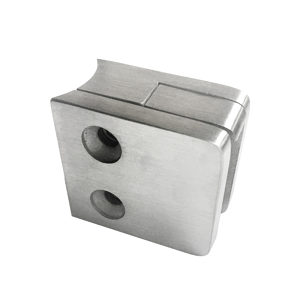 Square Glass Clamp - Round Post Mount - Model 506