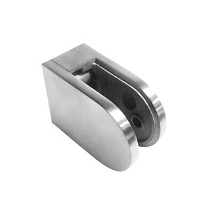 Round Glass Clamp - Flat Post Mount - Model 504