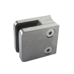 Square Glass Clamp - Round Post Mount - Model 524