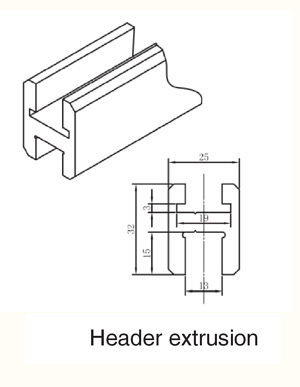 Deluxe H Shape Profile Shower Header Kit Richelieu