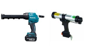 Pneumatic and Battery Applicator Guns for Sealant Cartridge, Caulking, and Glue